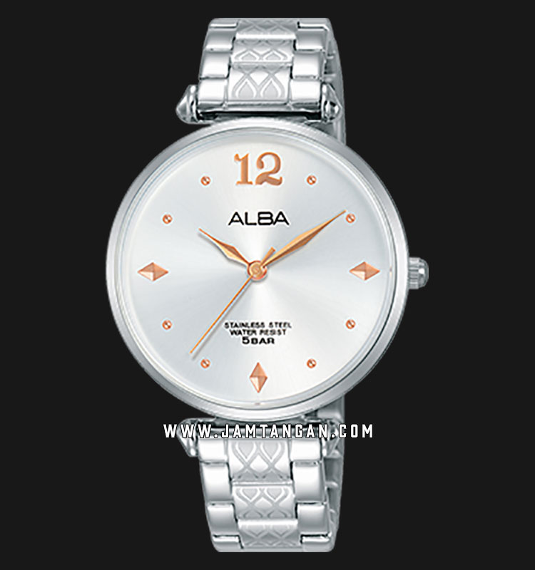 Alba AH8557X1 White Dial Stainless Steel Machtwatch