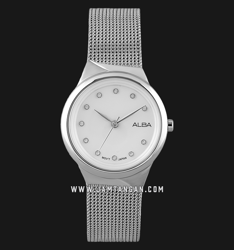 Alba AH8621X1 Ladies Silver Dial Stainless Steel Strap Machtwatch