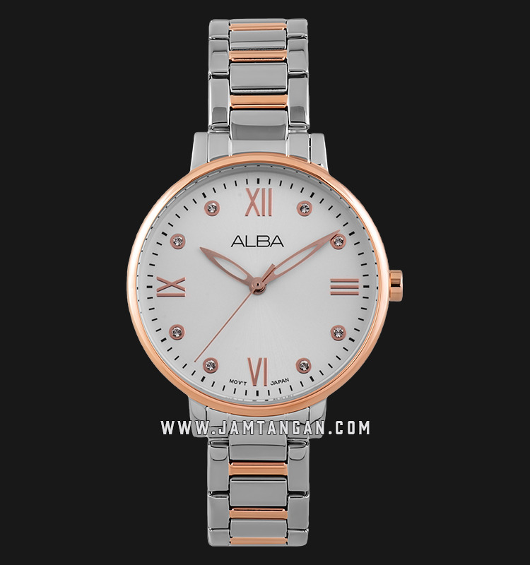 Alba AH8664X1 Ladies Silver Dial Dual Tone Stainless Steel Strap Machtwatch