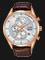 Alba AM3430X1 Chronograph Men Silver Dial Brown Leather Strap Thumbnail