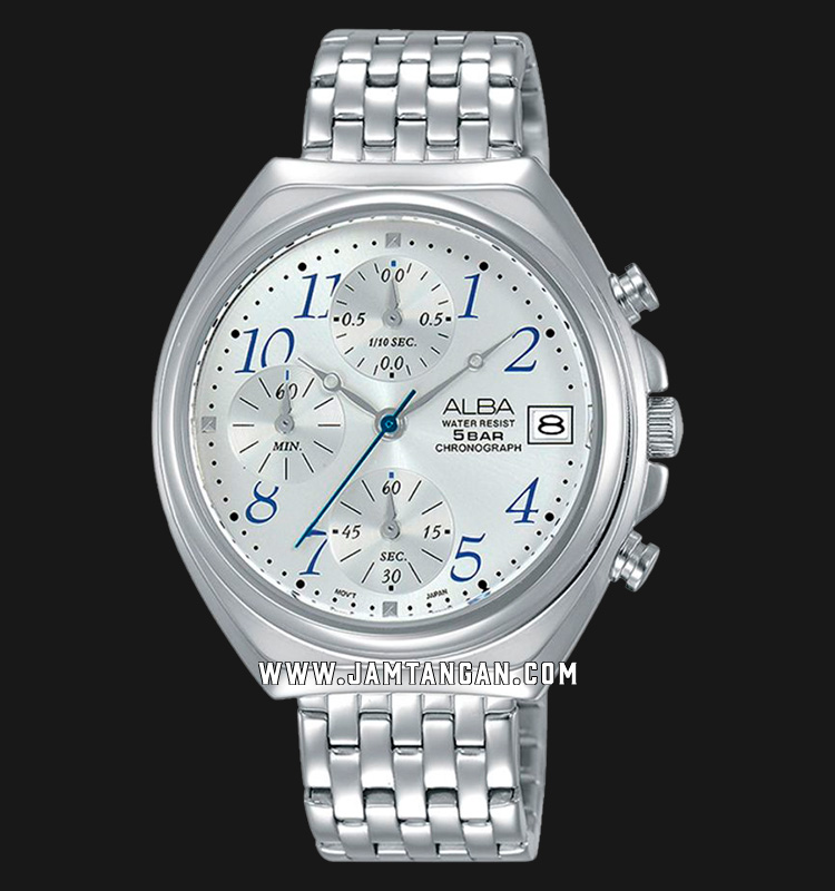 Alba AM3493X1 Silver Dial Stainless Steel Machtwatch