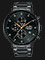 Alba AM3605X1 Chronograph Men Black Dial Black Stainless Steel Strap Thumbnail
