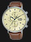 Alba AM3617X1 Chronograph Men Biege Dial Brown Leather Strap Thumbnail