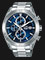 Alba AM3625X1 Chronograph Men Blue Dial Stainless Steel Strap Thumbnail