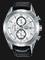 Alba AM3631X1 Chronograph Men Silver Dial Black Leather Strap Thumbnail