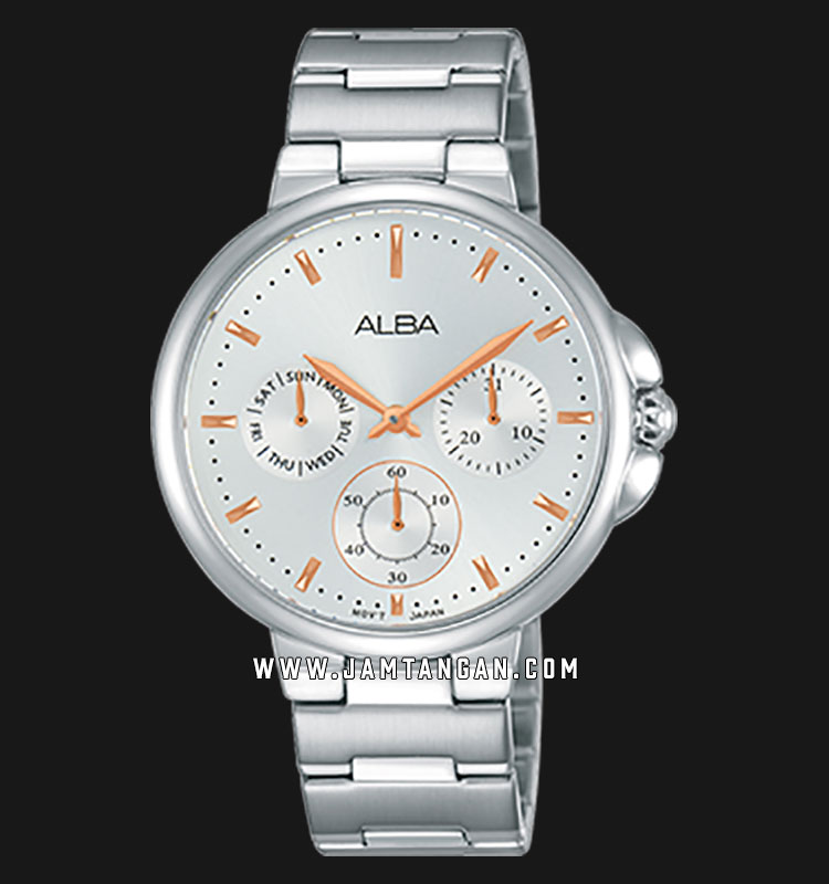 Alba AP6571X1 Ladies Silver Dial Stainless Steel Strap Machtwatch