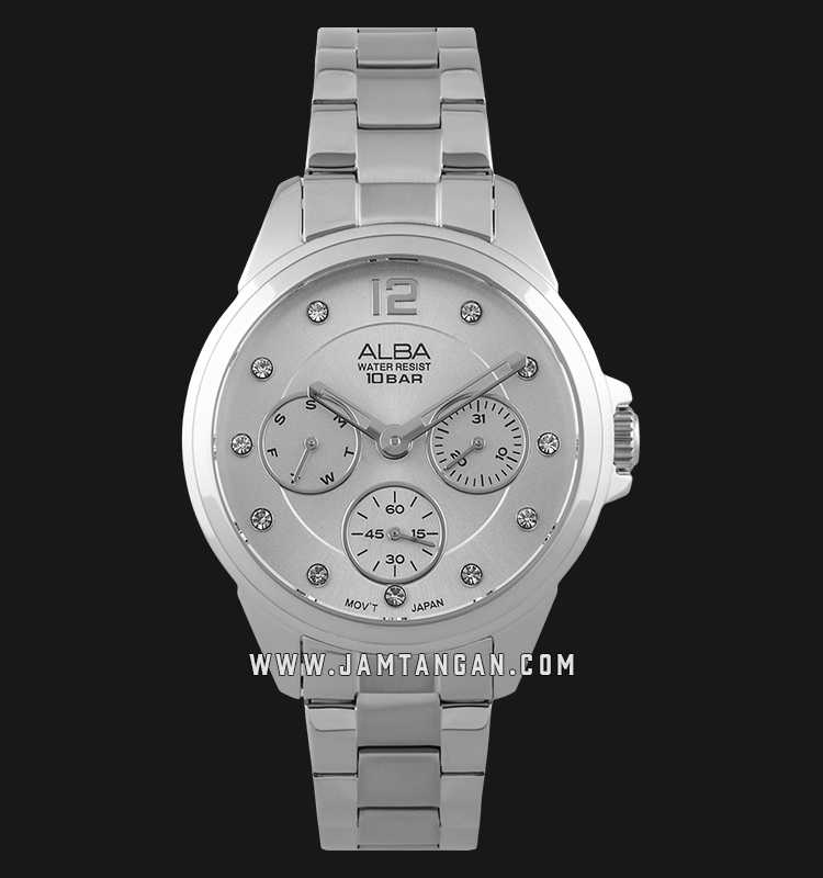 Alba AP6633X1 Ladies Silver Dial Stainless Steel Strap Machtwatch