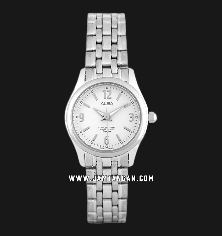 Alba ARSY37X1 Ladies White Dial Stainless Steel Strap Machtwatch