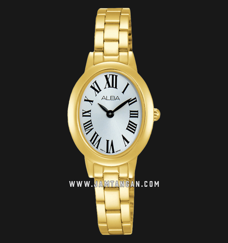 Alba ARW020X1 Silver Dial Gold Stainless Steel Machtwatch