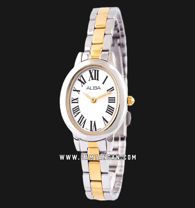 Alba ARW033X1 Ladies White Dial Dual Tone Stainless Steel Strap Machtwatch