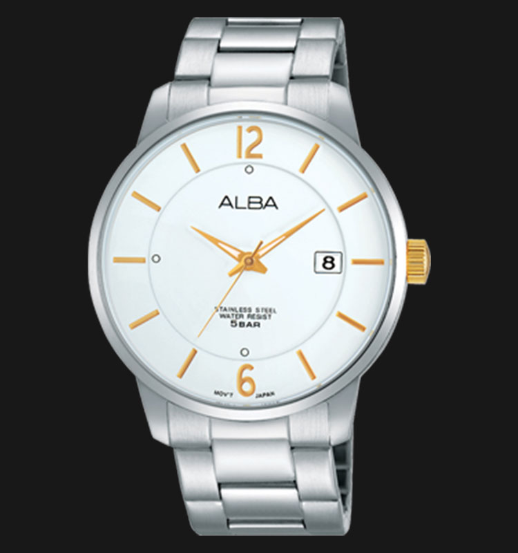 Alba AS9971X1 White Dial Stainless Steel Bracelet Machtwatch