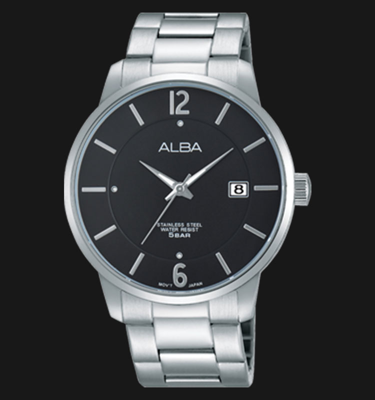 Alba AS9975X1 Black Dial Stainless Steel Bracelet Machtwatch
