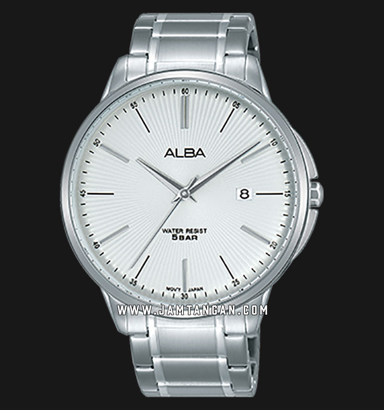 Alba AS9G35X1 Men Silver Dial Stainless Steel Strap Machtwatch
