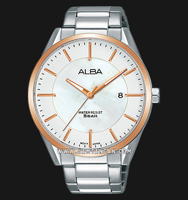 Alba AS9G44X1 Men Silver Dial Stainless Steel Strap Machtwatch