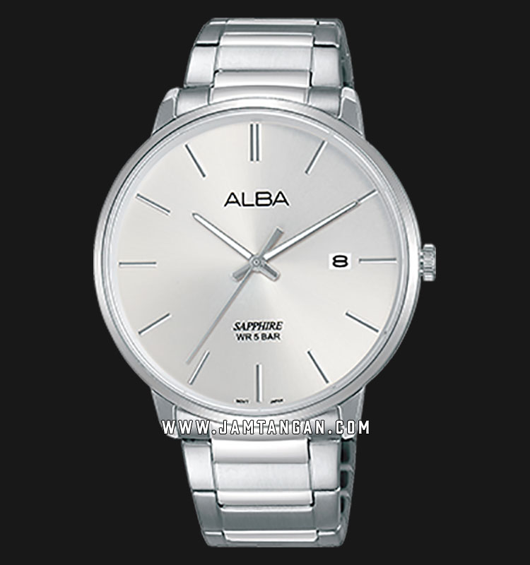 Alba AS9G65X1 Men Silver Dial Stainless Steel Strap Machtwatch