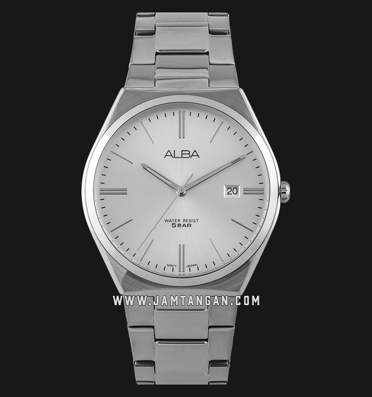 Alba AS9H86X1 Men Silver Dial Stainless Steel Strap Machtwatch