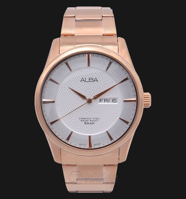 Alba AV3322X1 White Dial Stainless Steel Bracelet Machtwatch
