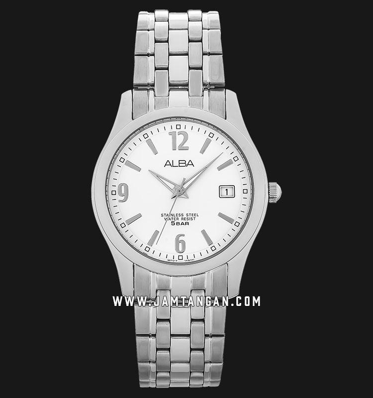 Alba AXHL01X1 Men White Dial Stainless Steel Machtwatch