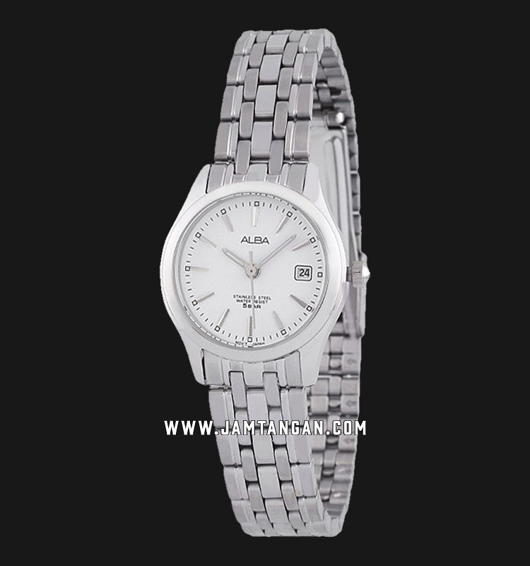 Alba AXT857X1 Ladies White Dial Stainless Steel Strap Machtwatch