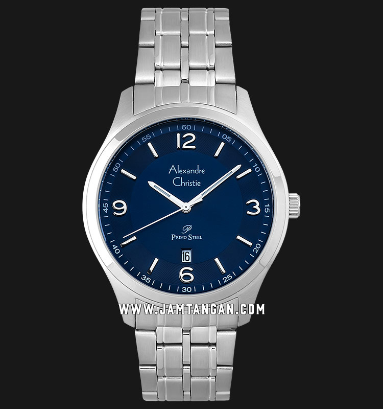 Alexandre Christie AC 1010 MD BSSBU Blue Dial Stainless Steel Strap Machtwatch