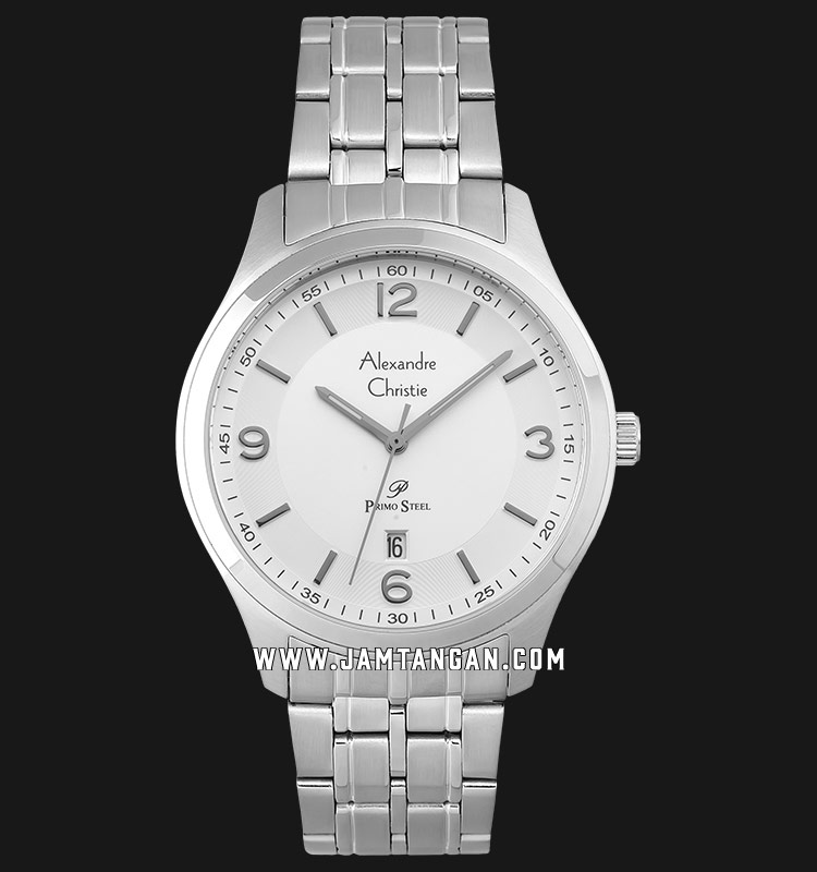Alexandre Christie AC 1010 MD BSSSL Silver Dial Stainless Steel Strap Machtwatch
