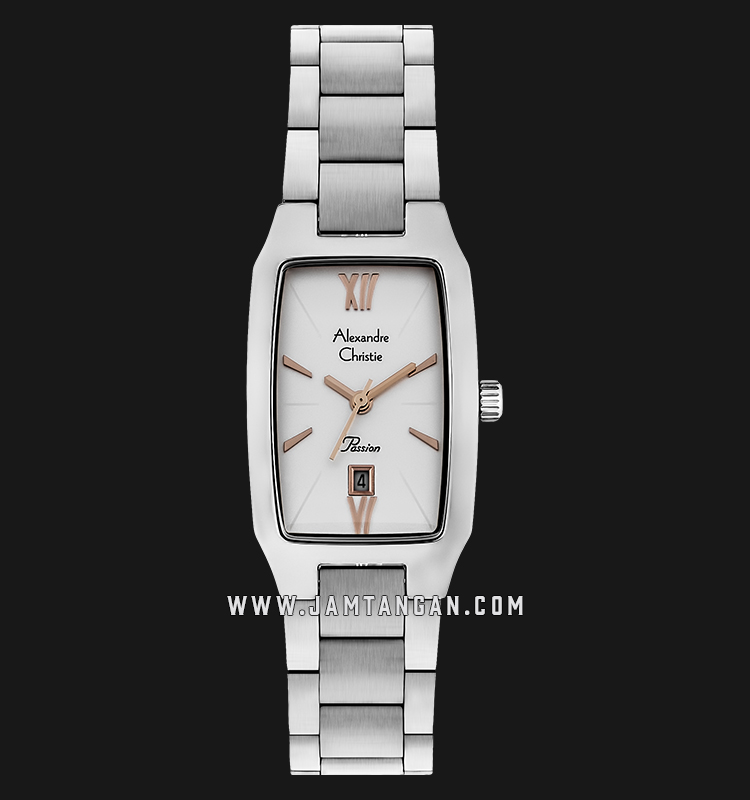 Alexandre Christie AC 2455 LD BSSSLRG Passion Ladies Silver Dial Stainless Steel Machtwatch