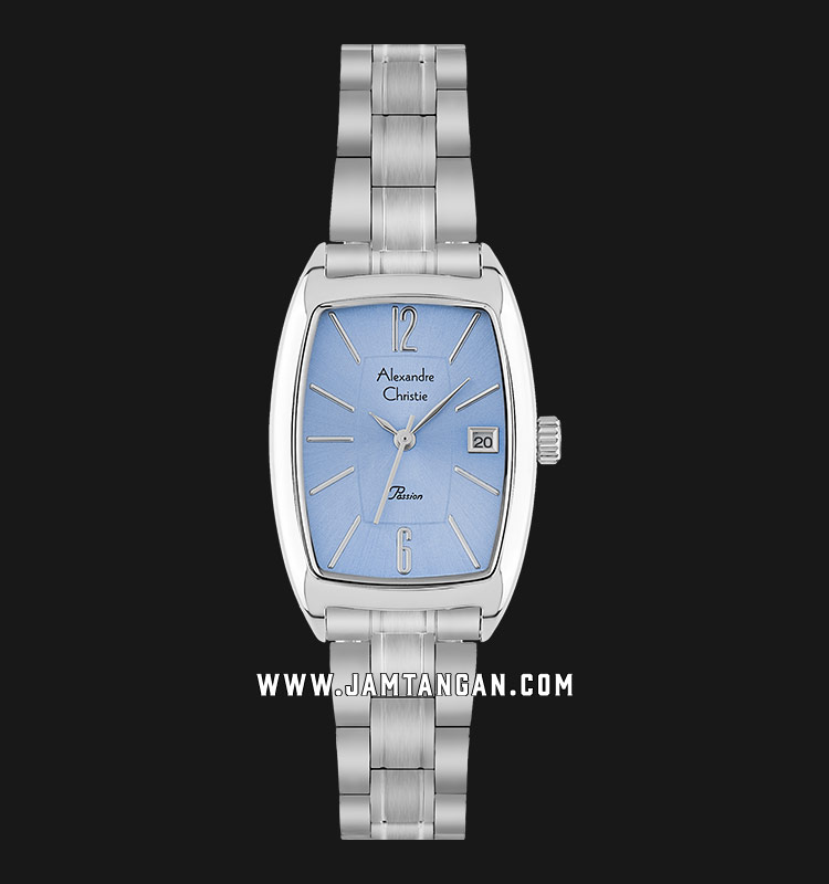Alexandre Christie AC 2456 LD BSSLB Ladies Passion Blue Dial Stainless Steel Strap Machtwatch