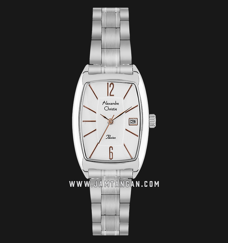 Alexandre Christie AC 2456 LD BSSSLRG Passion Ladies White Dial Stainless Steel Machtwatch