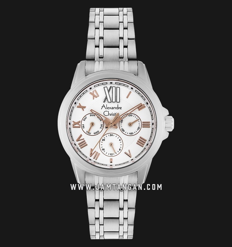 Alexandre Christie AC 2494 BF BSSSL Ladies White Dial Stainless Steel Machtwatch