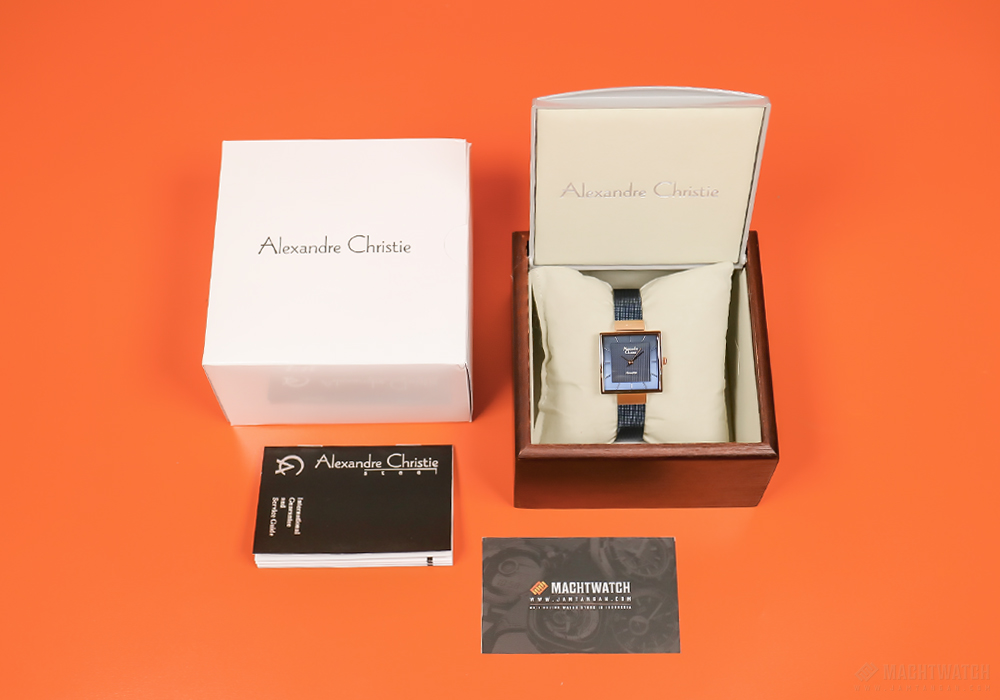 Alexandre Christie AC 2510 LH BURBU Ladies Blue Pattern Dial Stainless Steel Machtwatch
