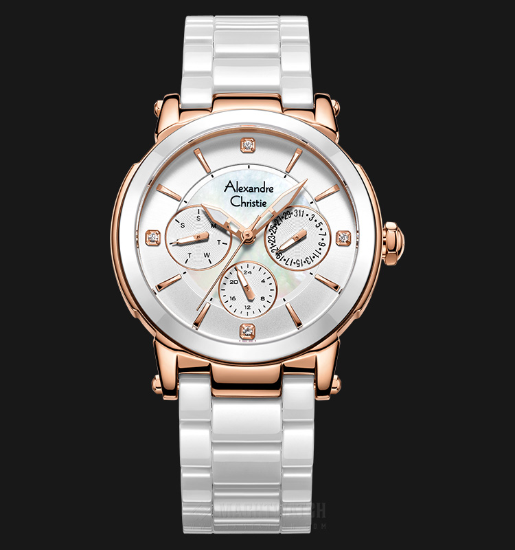 Alexandre Christie AC 2517 BF BRGSL Sport White Dial White-tone Stainless Steel with Ceramic Machtwatch
