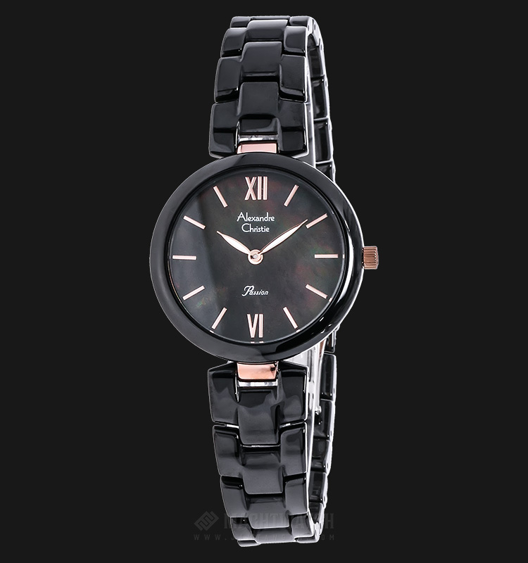 Alexandre Christie AC 2567 LH BRGMA Passion Ceramic Black Dial Stainless Steel Machtwatch