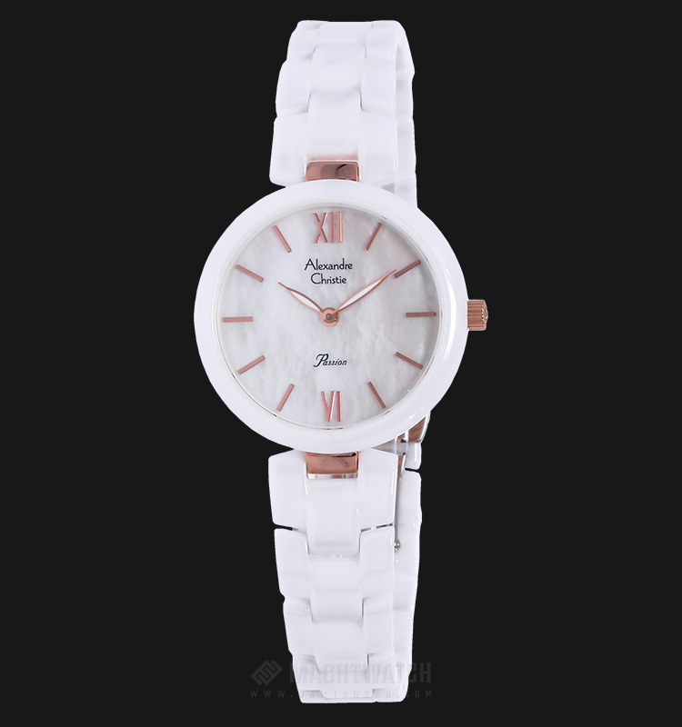 Alexandre Christie AC 2567 LH BRGMS Passion Ceramic White Dial Stainless Steel Machtwatch