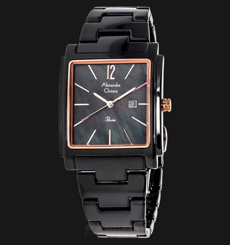 Alexandre Christie AC 2613 LD BRGBA Passion Ceramic Black Dial Stainless Steel Machtwatch