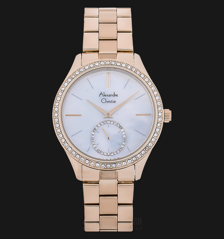 Alexandre Christie AC 2715 BF BRGMS Ladies Mother of Pearl Dial Rose Gold Stainless Steel Machtwatch