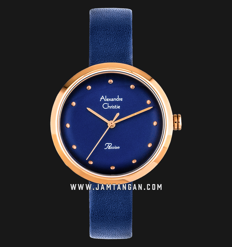 Alexandre Christie AC 2745 LH LRGBU Ladies Blue Dial Blue Leather Strap Machtwatch