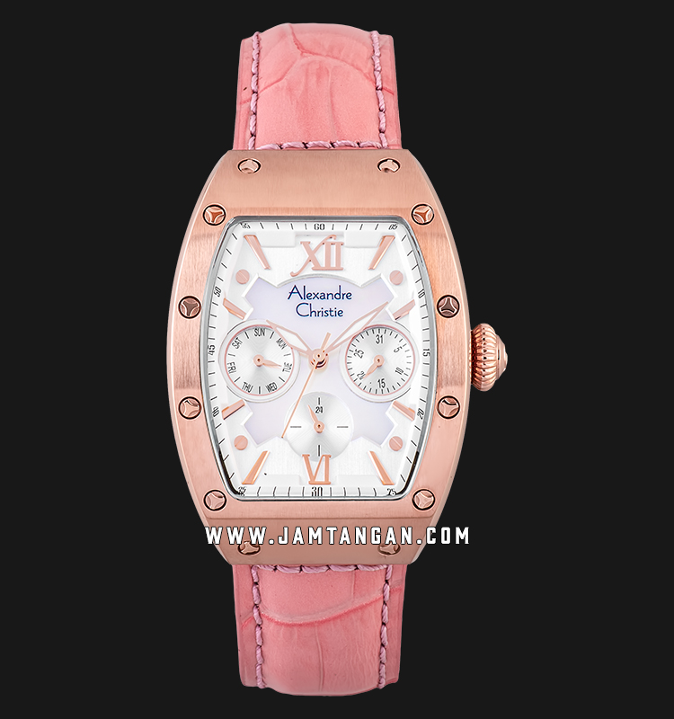 Alexandre Christie AC 2780 BF LRGMSPN Ladies Mother Of Pearl Dial Pink Leather Strap Machtwatch