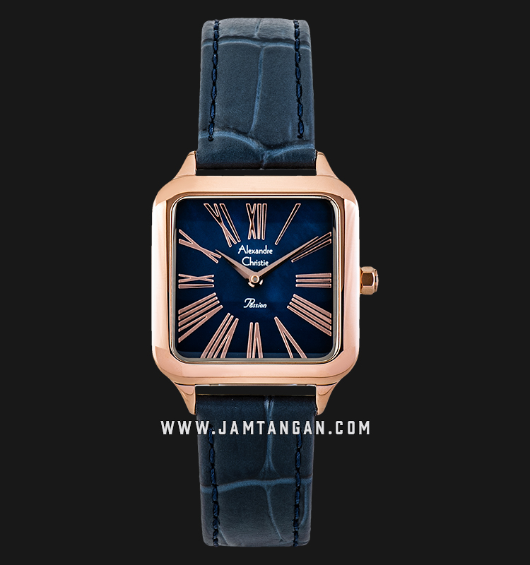 Alexandre Christie AC 2788 LH LRGMU Ladies Mother of Pearl Dial Blue Leather Strap Machtwatch