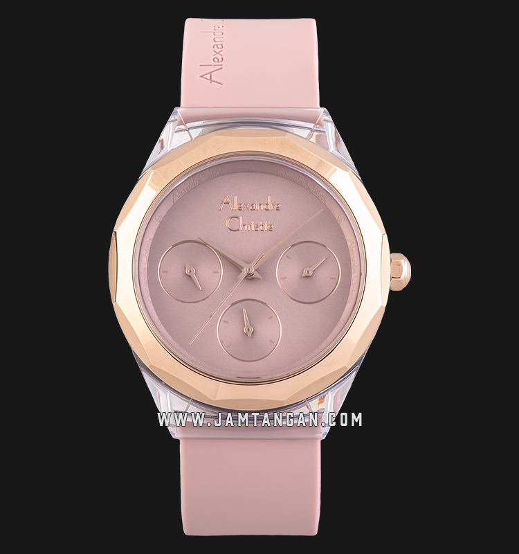 Alexandre Christie Ac 2808 Bf Rrgpu Pink Dial Pink Rubber Strap Jamtangan Com