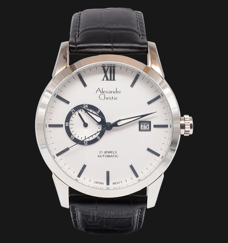 Alexandre Christie AC 3011 MA LSSSL Man Classic White Dial Leather Strap Machtwatch