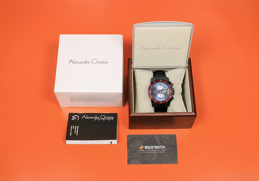 Alexandre Christie AC 6455 MC BGUBU Man Chronograph Blue Dial Stainless Steel Machtwatch