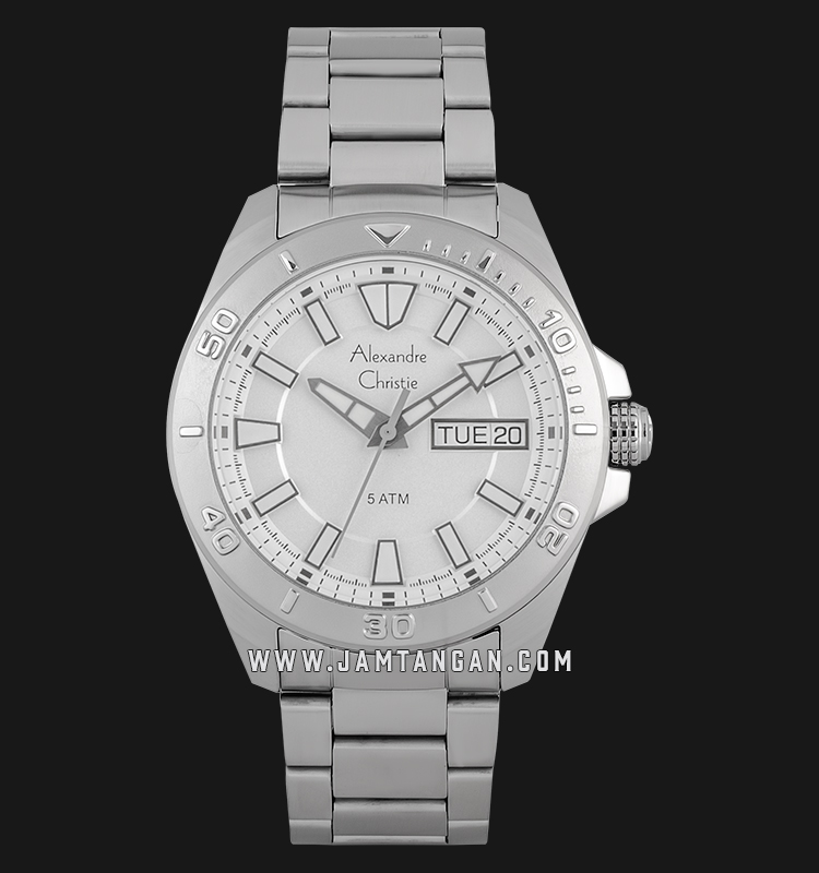 Alexandre Christie AC 6511 ME BSSSL Men Silver Dial Stainless Steel Strap Machtwatch