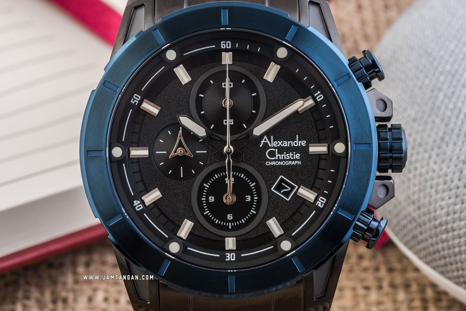 Alexandre Christie AC 6522 MC BUBBA Chronograph Men Black Dial Black Stainless Steel Strap Machtwatch