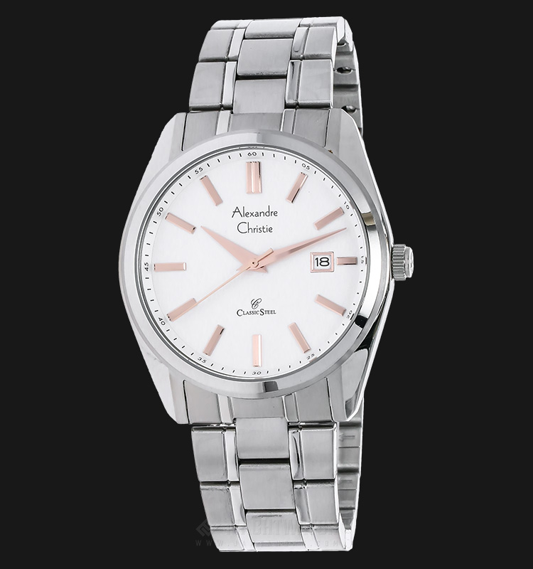 Alexandre Christie AC 8514 MD BSSSLRG White Dial Stainless Steel Machtwatch
