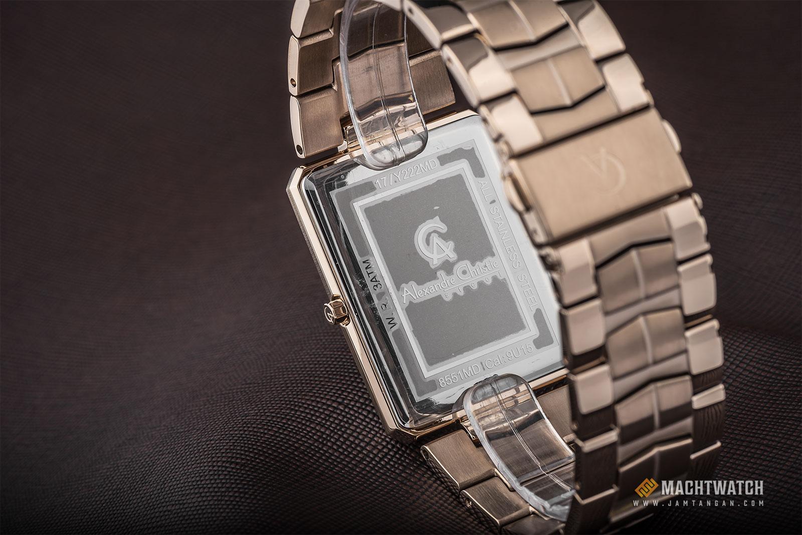 Alexandre Christie AC 8551 MD BRGSL Men Silver Dial Light Gold Stainless Steel Machtwatch