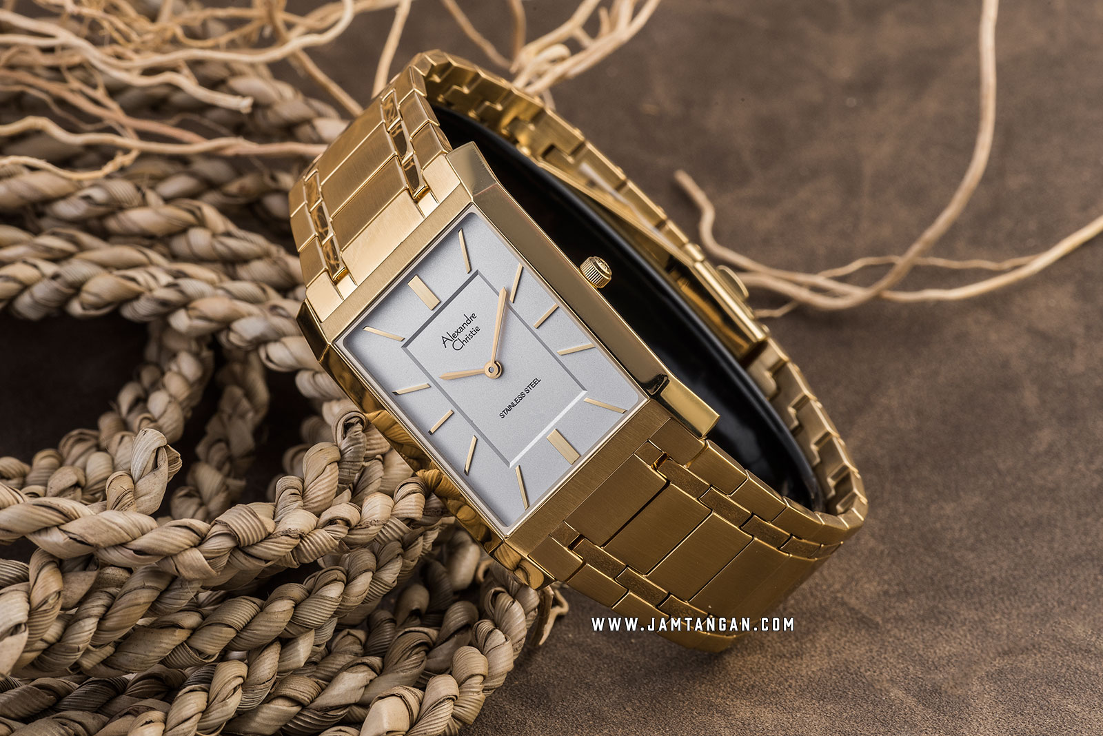 Alexandre Christie AC 8606 MH BGPSL Silver Dial Gold Stainless Steel Strap Machtwatch