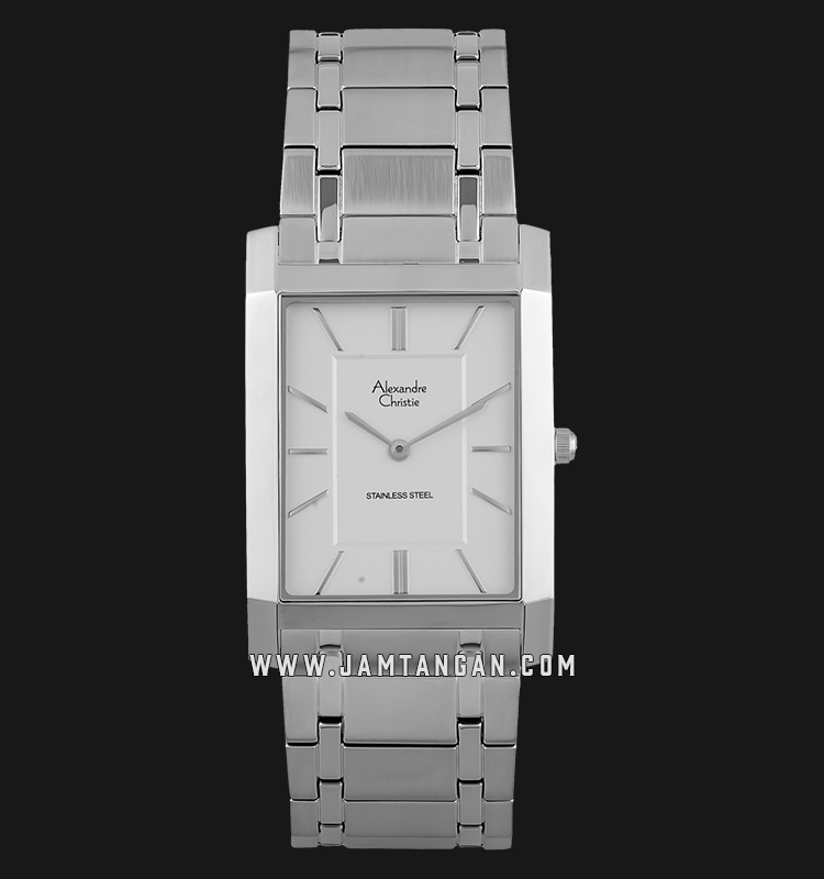 Alexandre Christie AC 8606 MH BSSSL Silver Dial Stainless Steel Strap Machtwatch