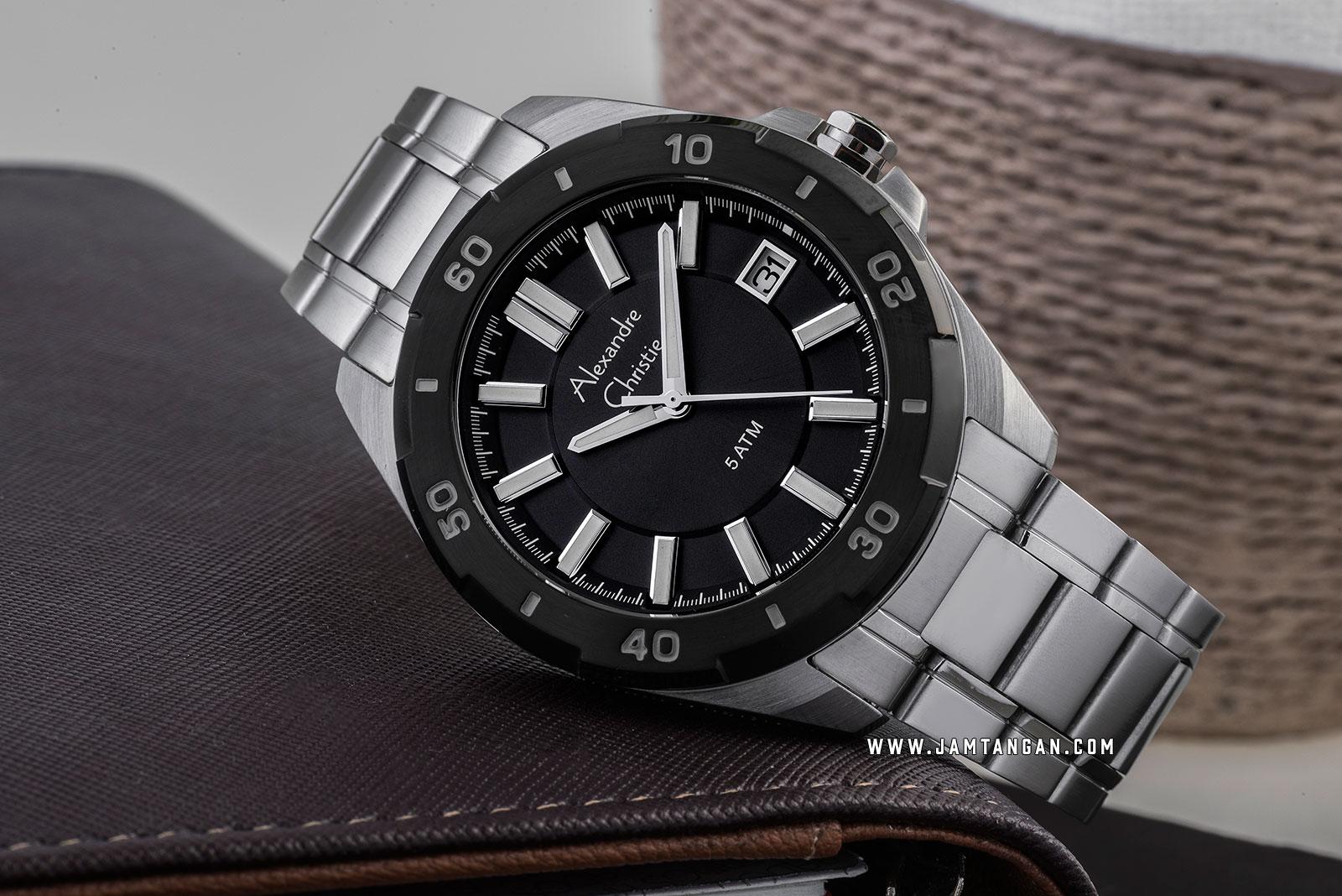 Alexandre Christie AC 8607 MD BTBBA Black Dial Stainless Steel Strap Machtwatch