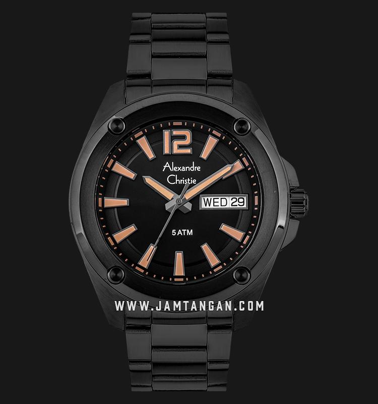Alexandre Christie AC 8609 ME BIPBA Black Dial Black Stainless Steel Strap Machtwatch