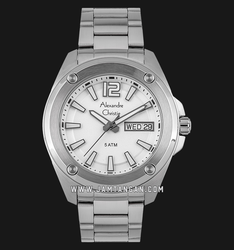 Alexandre Christie AC 8609 ME BSSSL Silver Dial Stainless Steel Strap Machtwatch